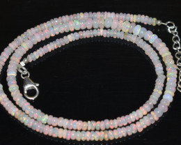 37.05 CT OPAL NECKLACE MADE WITH NATURAL ETHIOPIAN BEADS OBJ-36