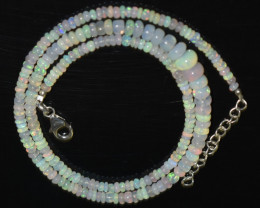 OPAL NECKLACE MADE WITH NATURAL ETHIOPIAN BEADS OBJ-37