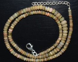 OPAL NECKLACE MADE WITH NATURAL ETHIOPIAN BEADS OBJ-39