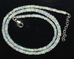 36.15 CT OPAL NECKLACE MADE WITH NATURAL ETHIOPIAN BEADS OBJ-41