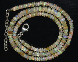48.00 CT OPAL NECKLACE MADE WITH NATURAL ETHIOPIAN BEADS OBJ-42