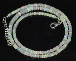 36.95 CT OPAL NECKLACE MADE WITH NATURAL ETHIOPIAN BEADS OBJ-49