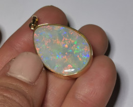 INCREDIBLE CRYSTAL OPAL PENDANT