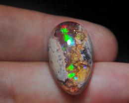 22.97ct Mexican Matrix Cantera Multicoloured Fire Opal
