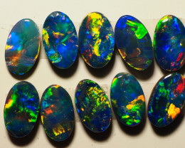 1.73CT  COOBER PEDY CALIBRATED OVAL OPAL DOUBLETS TT567
