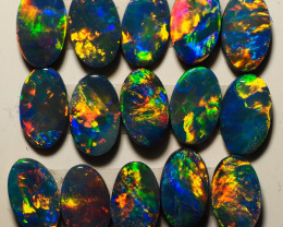 2.49CT  BRIGHT CALIBRATED OVAL OPAL DOUBLETS TT566