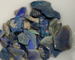 CUTTERS PARCEL OF ROUGH BLACK OPALS #2932