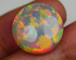 11.45 CRT ROUND DELUXE COLOR HONEYCOMB WEB FLOWER WELO OPAL*