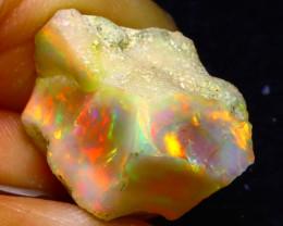 23.13Ct Multi Color Play Ethiopian Welo Opal Rough FN19