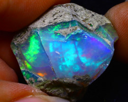 45.63Ct Multi Color Play Ethiopian Welo Opal Rough FN23