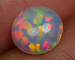 1.70 CRT BEAUTIFULL ROUND CHAFF PUZZLE PATTERN PLAY COLOR WELO OPAL