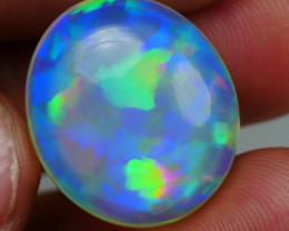18.15CRT BRILLIANT BRIGHT CRYSTAL BLOCKED BLUE WELO OPAL -