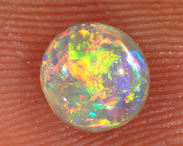 0.5ct 5.7x5.4mm Solid Lightning Ridge Crystal Opal [LO-2051]