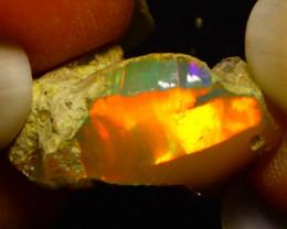 9.19Ct Multi Color Play Ethiopian Welo Opal Rough F0304