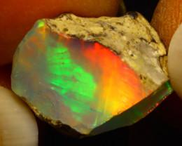 7.35Ct Multi Color Play Ethiopian Welo Opal Rough F0305