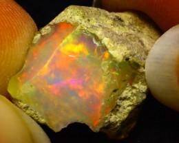10.88Ct Multi Color Play Ethiopian Welo Opal Rough F0316