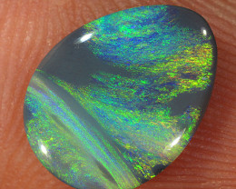 1.1ct 11x8mm Solid Lightning Ridge Dark Opal [LO-2058]