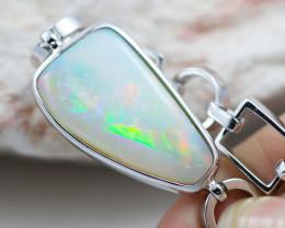 Free Fire Crystal opal  sterling silver bracelet OPJ 2557
