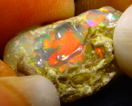 8.96Ct Multi Color Play Ethiopian Welo Opal Rough G0608
