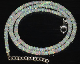 32.90 CT OPAL NECKLACE MADE WITH NATURAL ETHIOPIAN BEADS OBJ-60