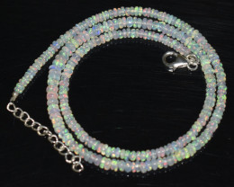 33.40 CT OPAL NECKLACE MADE WITH NATURAL ETHIOPIAN BEADS OBJ-66