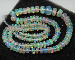 20.40CRT BRILLIANT BRIGHT BEADS AND STRAND WELO OPAL -
