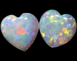 0.66 CTS CRYSTAL OPAL PAIRS HEART SHAPED [SEDA3062]