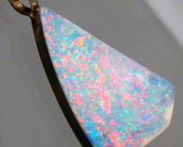 Australian Opal Doublet Pendant 14k Gold Gift 6.45ct