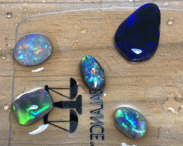9cts Lightning Ridge Opal Rubs parcel 5 pieces