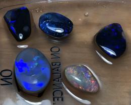 15.5cts Lightning Ridge Opal Rubs parcel 5 pieces