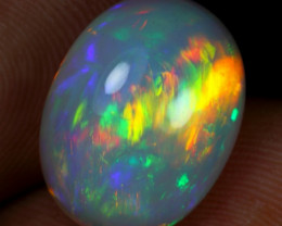8.10cts Huge Flagstone and Brush Fire Natural Ethiopian Welo Opal