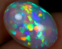 2.90cts Top 5/5 Rainbow Cell Pattern Natural Ethiopian Welo Opal