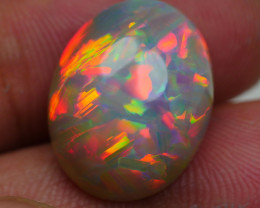 10.35 CRT AMAZING ABSTRACK PAINTING RED FIRE PATTERN WELO OPAL-