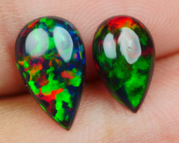 2.00 CRT 2 PCS SMOKED BEAUTY PLAY COLOR WELO OPAL*