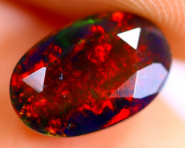 1.60cts Natural Ethiopian Smoked Faceted Black Opal / BF784
