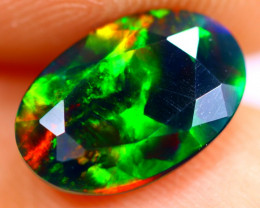 1.16cts Natural Ethiopian Smoked Faceted Black Opal / BF785