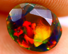1.06cts Natural Ethiopian Smoked Faceted Black Opal / BF788