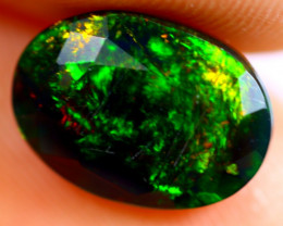 1.66cts Natural Ethiopian Smoked Faceted Black Opal / BF789