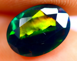 1.23cts Natural Ethiopian Smoked Faceted Black Opal / BF790