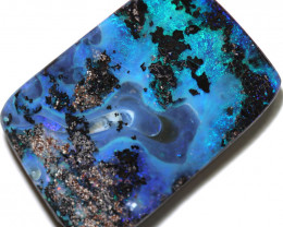 24.00 cts Dark based Picture stone   Quilpie Boulder opal MMR 2362