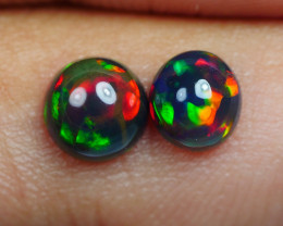 1.00 CRT 2PCS SMOKED BEAUTY PLAY COLOR WELO OPAL*