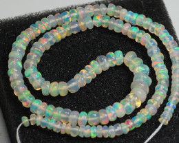 22.95CRT BRILLIANT BRIGHT STRAND & BEADS WELO OPAL -
