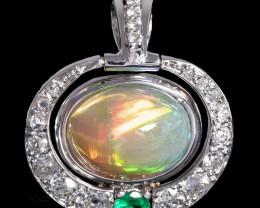 Ethiopian welo opal pendant.