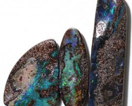 51.00 cts Dark based  Quilpie Boulder opal parcel MMR 2380
