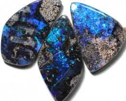 61.00 cts Dark based  Quilpie Boulder opal parcel MMR 2383