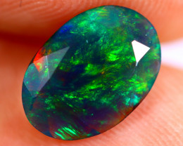 1.15cts Natural Ethiopian Smoked Faceted Black Opal / BF811