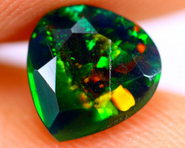 0.88cts Natural Ethiopian Smoked Faceted Black Opal / BF830