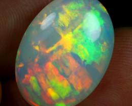 6.40cts Neon Cascade Pattern Natural Ethiopian Welo Opal