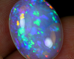 Video - 6.40cts Iridescence Cell Pattern Natural Ethiopian Welo Opal