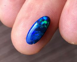 1.5 carat Lightning Ridge black opal